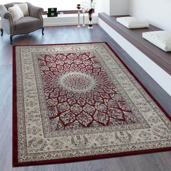 Orientteppich Bordüre Mandala Muster Creme