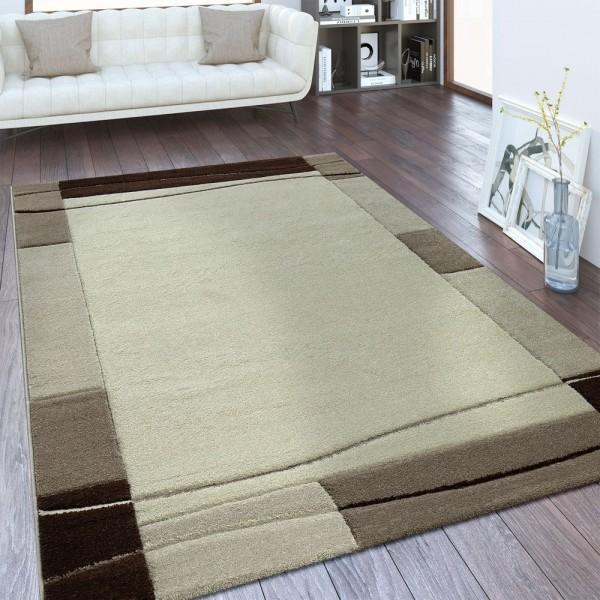 Designer Teppich Bordüre Braun Beige