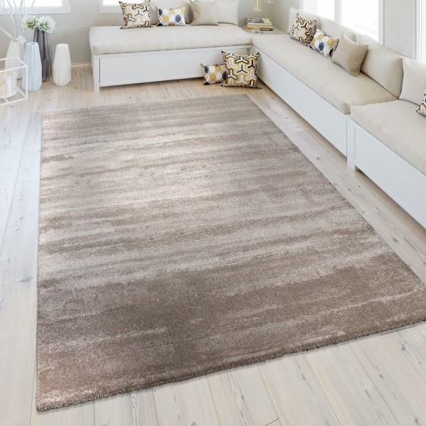 Kurzflor Teppich Einfarbig Beige