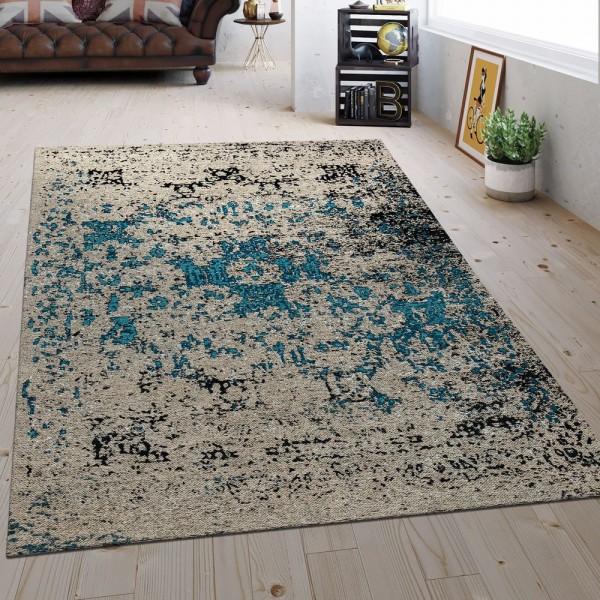 Flachgewebe Teppich Vintage Beige