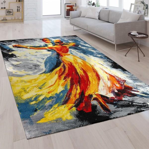 Designer Teppich Tanzpaar Multicolor