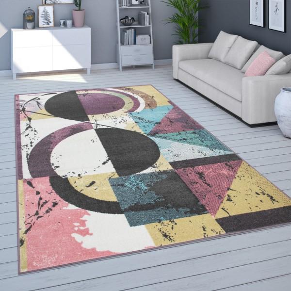 Teppich Pastellfarben Abstraktes Design