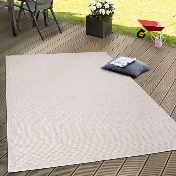 In- & Outdoor Flachgewebe Teppich Terrassen Teppiche Natürlicher Look In Beige