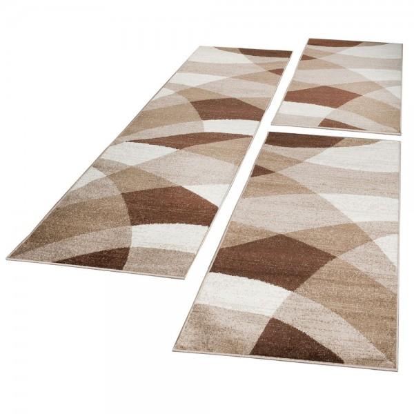 Runner Set Geometric Brown Beige