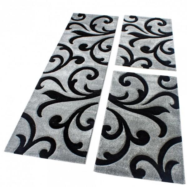 Runner Set Tendril Pattern Grey