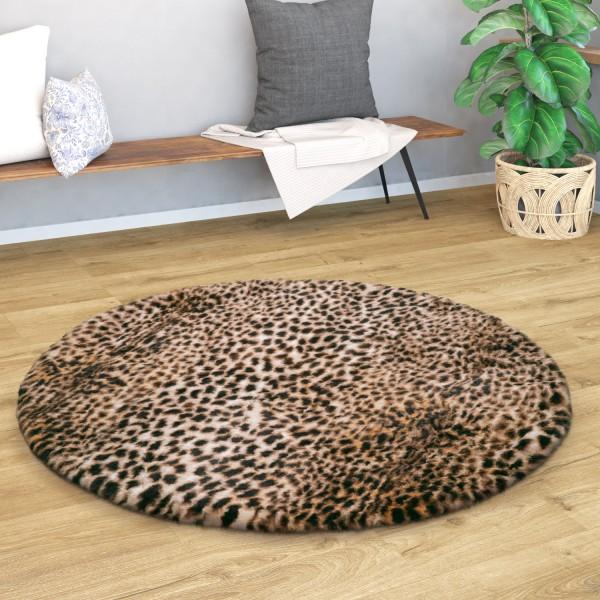 Alfombra Salón Lavable Diseño Leopardo