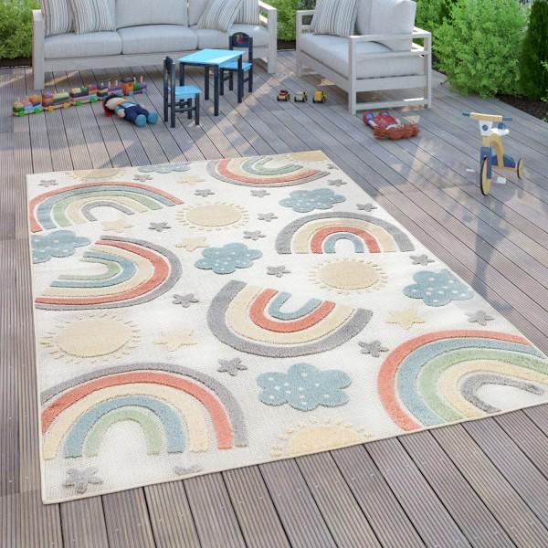 Kinder Teppich Kinderzimmer Spielteppich Regenbogen