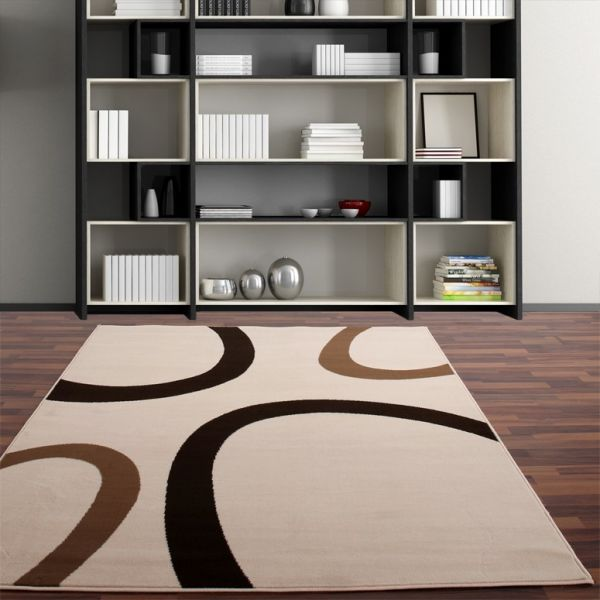 Moderner Designer Teppich Creme Ivory Beige Neu*OVP