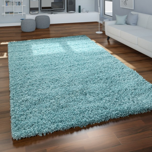 Morbido tappeto a pelo alto per il soggiorno in beige