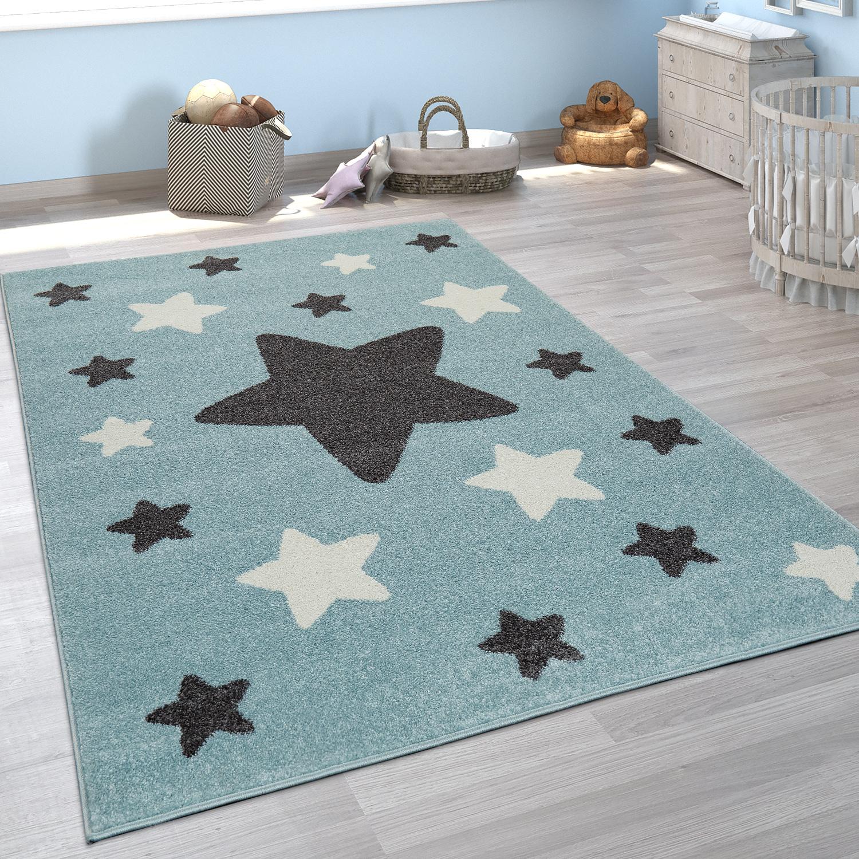 Kinderzimmer Teppich Madchen Junge Sterne Teppichcenter24