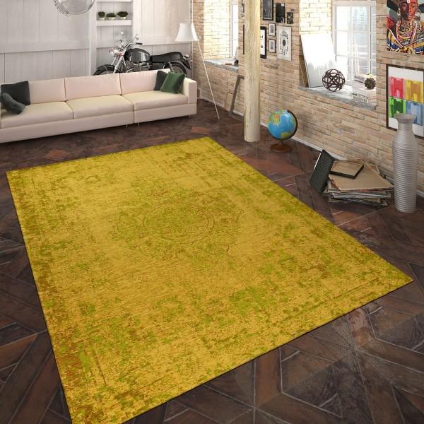 Teppich Flachgewebe Ornamente Gelb