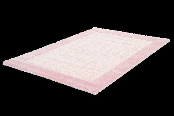 Kurzflor Teppich Bordüre Farbverlauf Pink