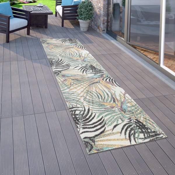 Outdoor Rug Terrace Balcony Plant Pattern