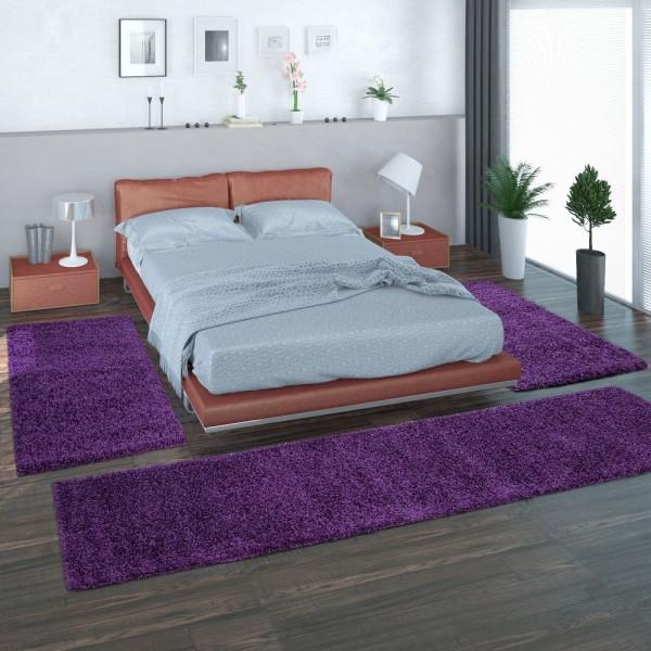 Alfombras 3 Piezas Púrpura