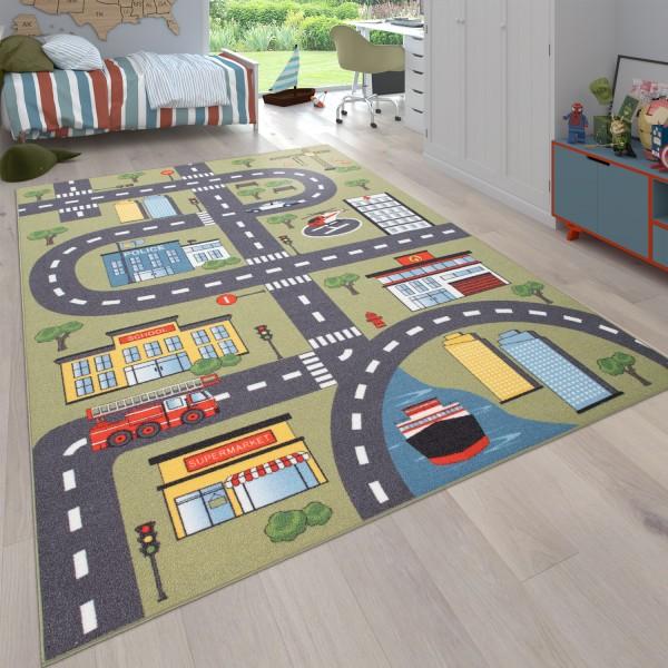 Alfombra Infantil Habitación Infantil Carreteras