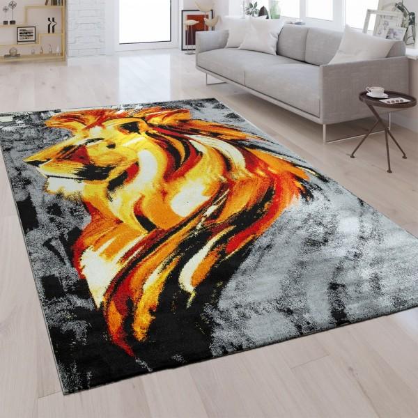 Designer Teppich Löwe Gold