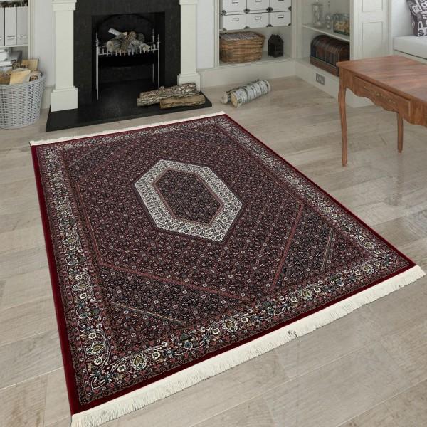 Orientalischer Polyacryl Teppich Ornamente Rot