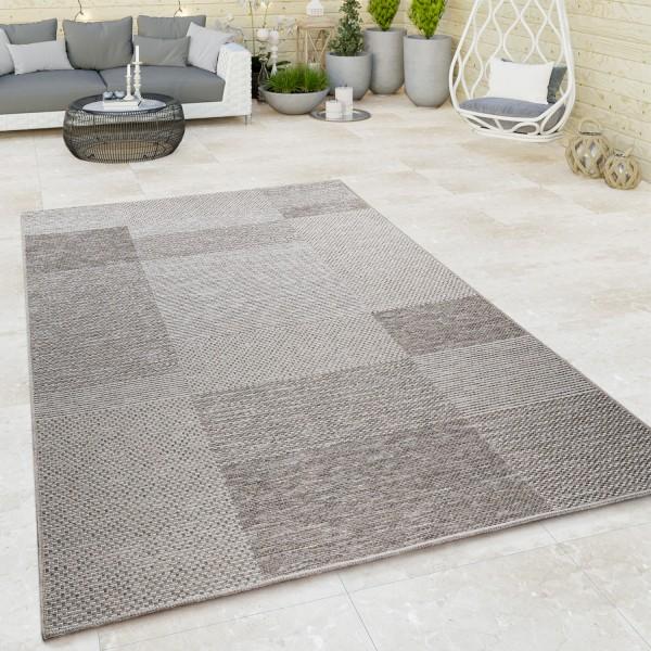 In-& Outdoor Teppich Terrasse Geometrisches Muster