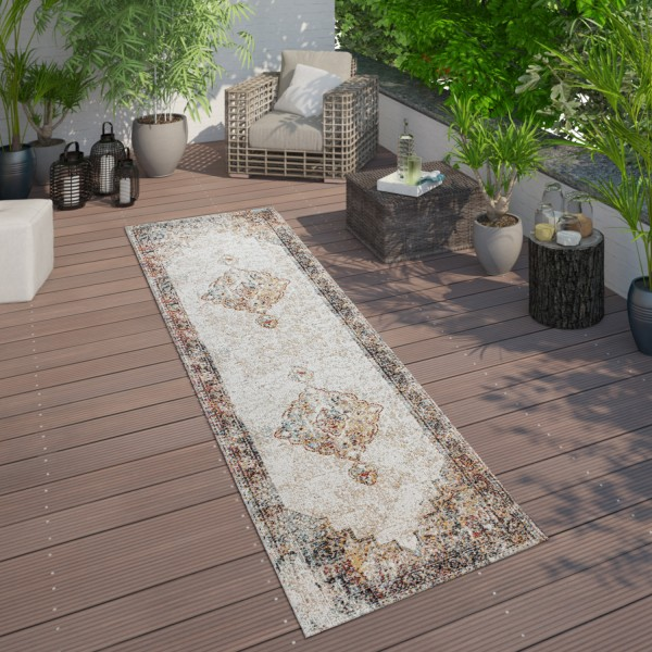 Indoor & Outdoor Rug Oriental Look Balcony Terrace