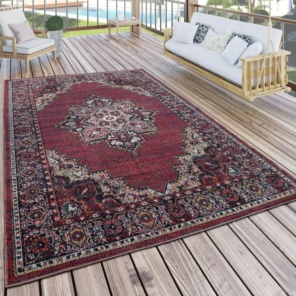 In- & Outdoor Teppich Modern Vintage Look Terrassen Teppich Wetterfest Bunt