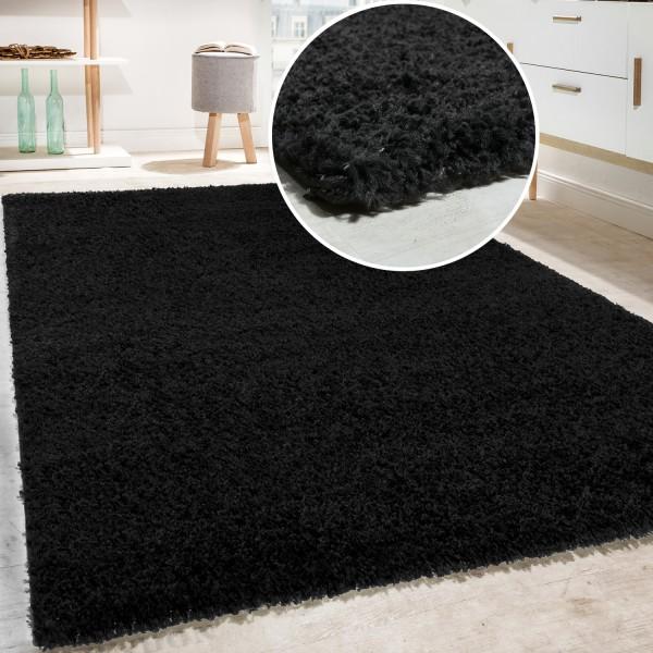 Shaggy langpolig tapijt woonkamer geel