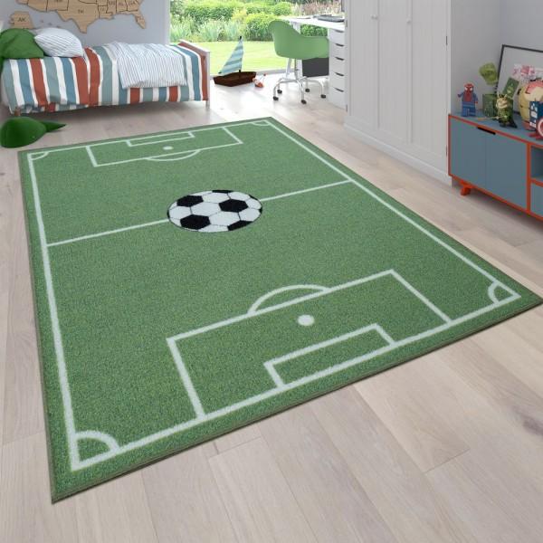 Kinder-Teppich, Spiel-Teppich Für Kinderzimmer Mit Fußball-Design, In Grün