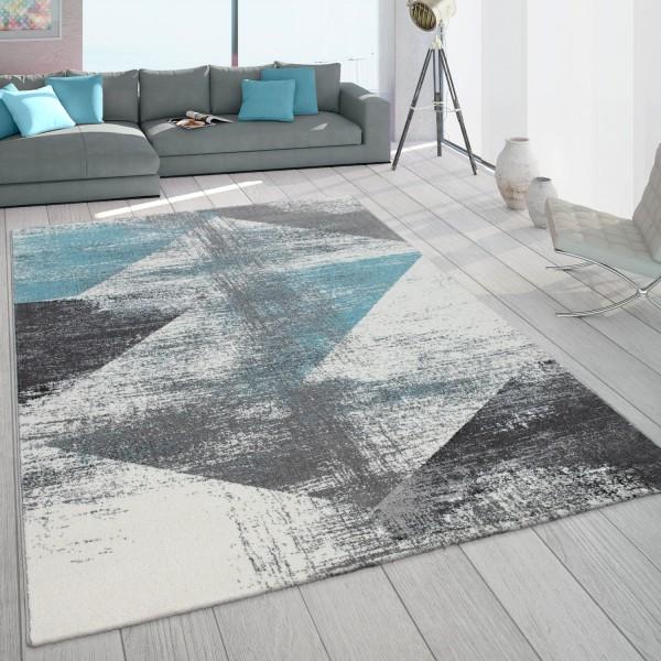Teppich Wohnzimmer Vintage Abstraktes Muster Pastell