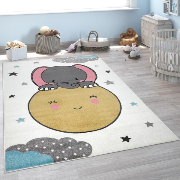 Kinder-Teppich Kinderzimmer Elefant Mond
