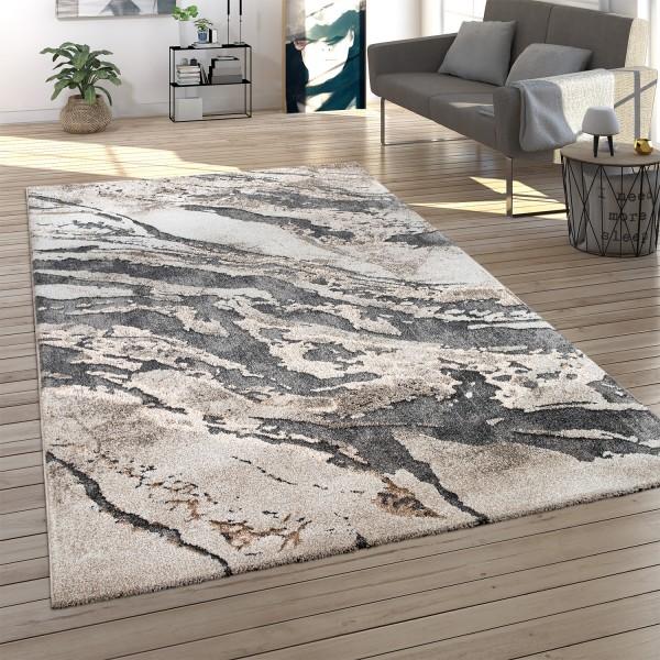 Teppich Esszimmer 3D Effekt Stein Optik
