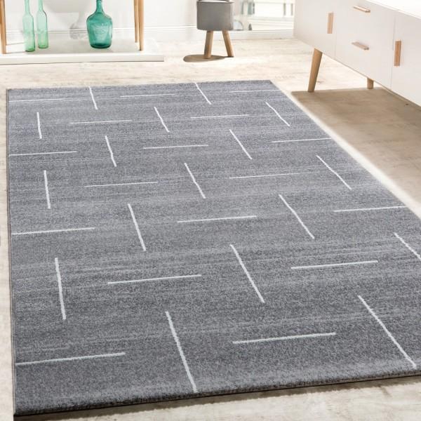 Designer Teppich Wohnzimmer Modernes Design In Grau Weiß Meliert