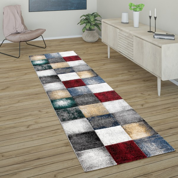 Rug Living Rooms Checked Pattern Short-Pile