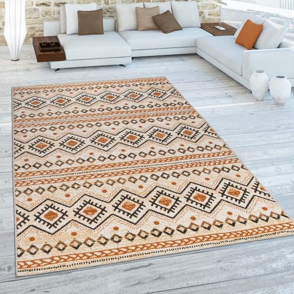 Teppich Terrasse Vintage Muster Als Flachgewebe