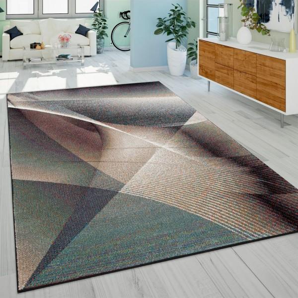 Designer-Teppich, Kurzflor Mit Farbverlauf Modernes Gemälde-Muster, In Bunt