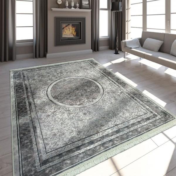 Moderner Teppich Mit Bedrucktem Florale Muster Trend Design Beige Braun