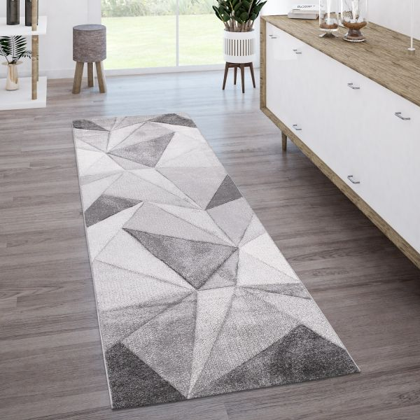 Alfombra Salón Moderno Motivo Geométrico