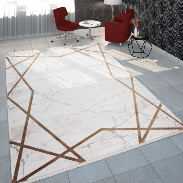 Rug Dining Room Marble Zigzag Border