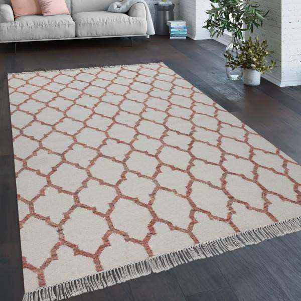 Teppich Wohnzimmer Geometrisches Orient Muster