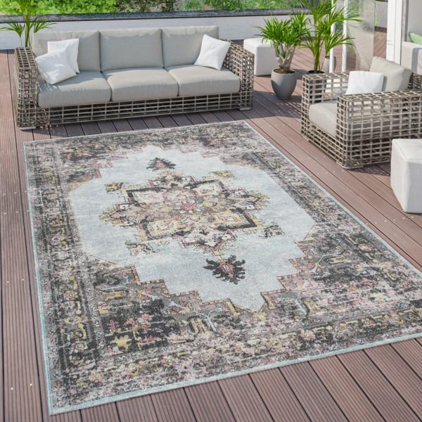 Vloerkleed voor buiten voor terras balkon Oosters patroon