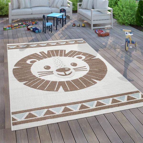 Kinder Teppich Kinderzimmer 3D Effekt Löwe