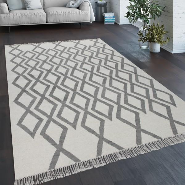 vloerkleed woonkamer geometrisch patroon handgeweven