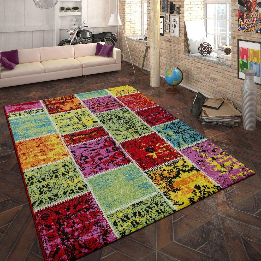 Design-Teppich Patchwork Muster