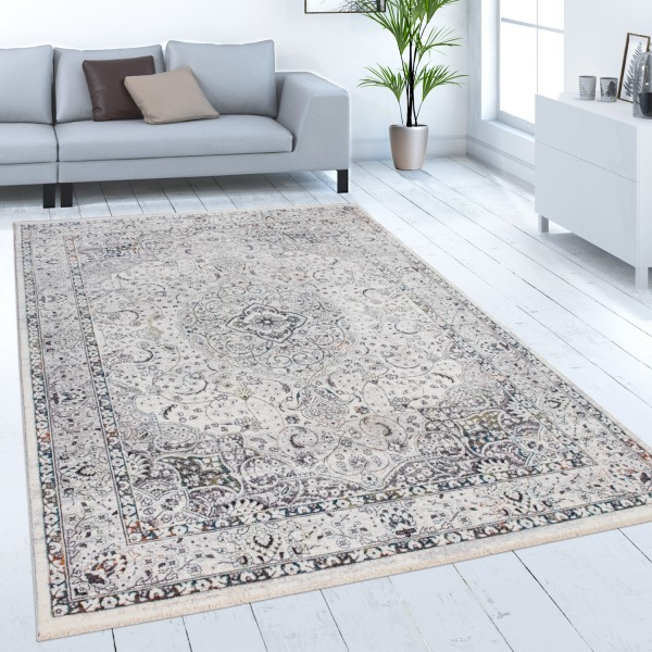 Teppich Wohnzimmer Kurzflor Orient Muster