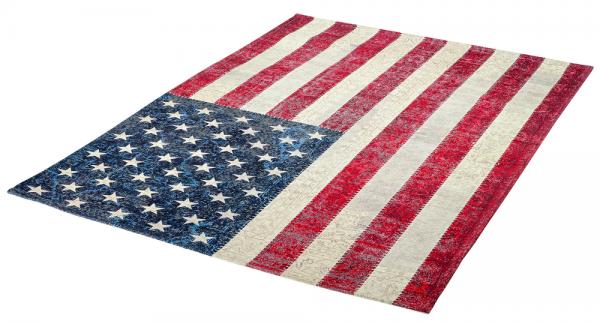 Flachgewebe Teppich USA Flagge