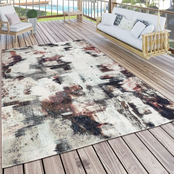 Outdoor Rug Abstract Pastel