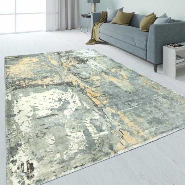 Design Teppich Abstrakt Used-Look Beige
