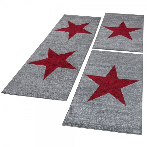 Runner Set Star Red Grey