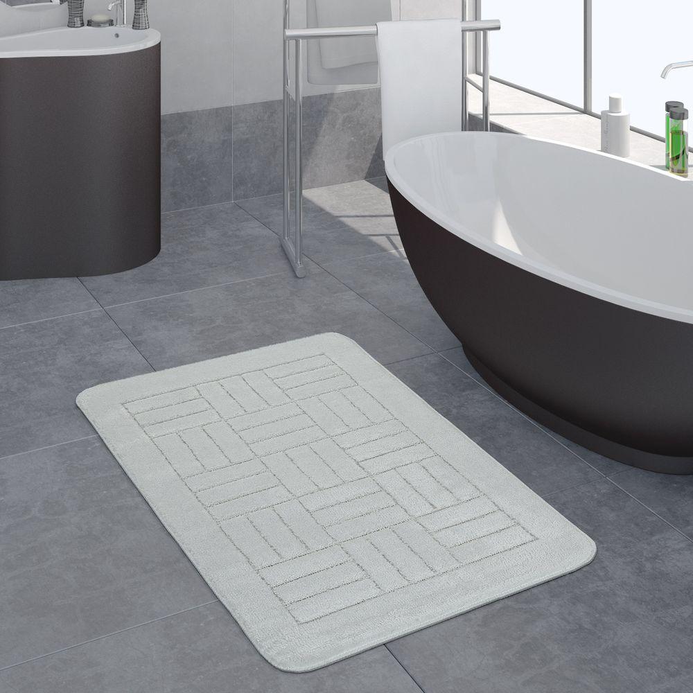 Badezimmer Teppich Kariertes Muster Versch. Größen u. Farben
