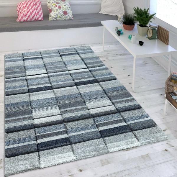 Wohnzimmer Teppich Modern Blau Grau Pastell Trend Skandinavisch Maritimer Stil