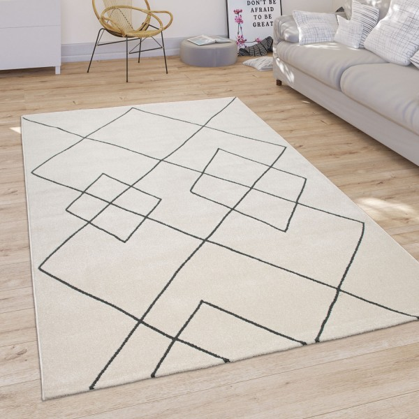 Teppich Wohnzimmer Geometrisches Rauten Muster