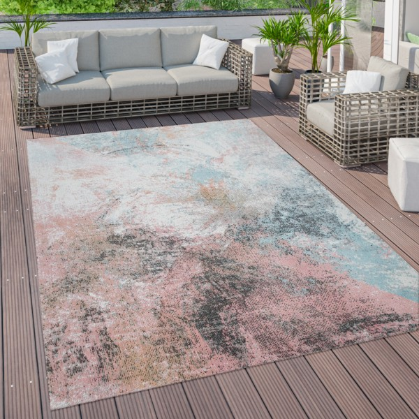 Outdoor Rug Terrace Balcony Abstract Pattern
